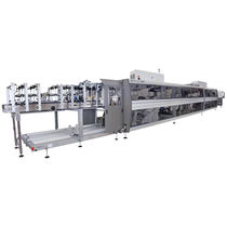 Wrap-around case packer sleeve wrapping machine / automatic