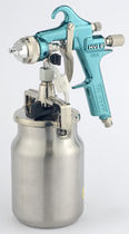 Spray gun / for paint / manual / pressure feed suction