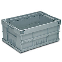 PP crate / for the automotive industry / stacking / folding