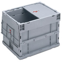 Plastic crate / transport / folding / perforated plate
