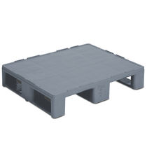 Plastic half-size pallet / Euro / for hygienic applications / solid deck