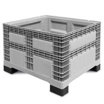 Plastic pallet box / storage / stacking / perforated plate