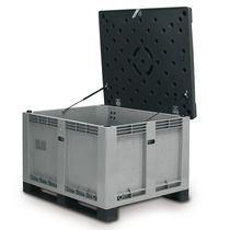 Plastic pallet box / storage / stacking / with lid