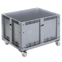 Plastic pallet box / storage / stacking / on casters