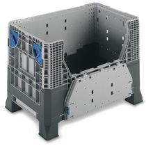 Plastic pallet box / transport / folding / reinforced