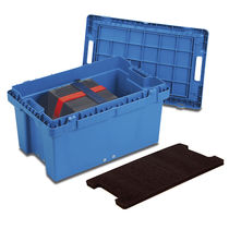 Plastic crate / with lid / nesting / reusable