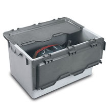 Plastic crate / with lid / reusable