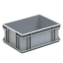 Polypropylene crate / for logistics / foodstuffs / with handles