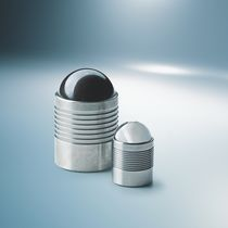 Round plug / threaded / metal / expansion