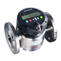 Oval gear flow meter / for fuel / for chemicals / for acids