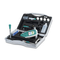 Portable pH meter / laboratory / digital / with conductivity meter