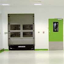 Roll-up door / indoor / for clean rooms / access