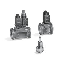 Gas solenoid valve / air / compact / flange