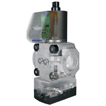 Gas pressure regulator / for air / single-stage / with solenoid valve