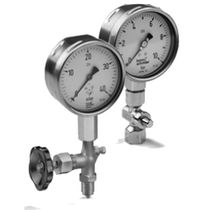 Analog pressure gauge / capsule / process / for gas