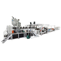 Sheet extrusion line / for thermoplastics