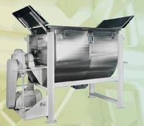Paddle mixer / batch / solid/liquid / horizontal