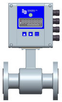 Electromagnetic flow meter / for water / with battery / in-line