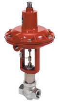 Globe valve / pneumatically-operated / regulating / for steam