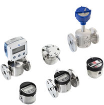 Oval gear flow meter / for corrosive fluids / economical / compact