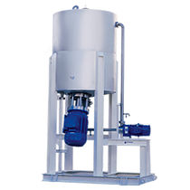 Rotor-stator mixer / continuous / solid / polymer