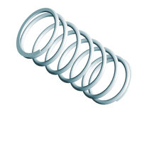 Compression spring / wire / steel / for medical applications