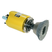 Deburring spindle / brushing / air-driven / axial