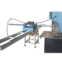 Portable cutting machine / stainless steel / steel / for aluminum