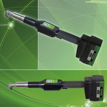 Cordless electric screwdriver / right-angle / high-torque / with wireless data transmission