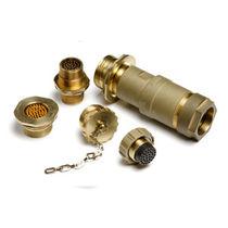 Electrical power supply connector / circular / screw coupling / multipolar