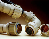 Electrical power supply connector / circular / screw coupling / plastic