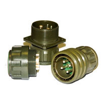 Electrical power supply connector / circular / threaded / multipolar