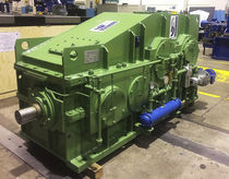 Parallel-shaft gear reducer / right-angle / for rubber