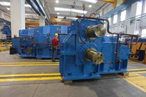 Orthogonal gear reducer / tandem / for the metallurgical industry / pinion stand