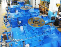 Right-angle gear reducer / for chemical reactors / for mixers / vertical output shaft