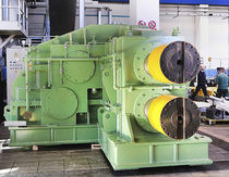Bevel gear reducer / parallel-shaft / large pinion / for hot-rolling sheet steel