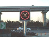 Variable Speed limit sign / LED