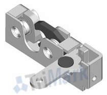 Push-to-close latch / rotary / for light-duty applications