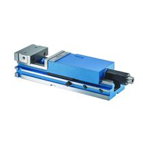 Machine tool vise / hydraulic / vertical / screw