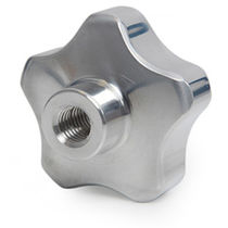 Lobe knob / aluminum / threaded