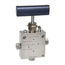 Manual valve / regulating / for gas / stainless steel