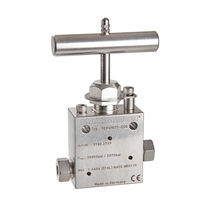 Needle valve / manual / regulating / for oil