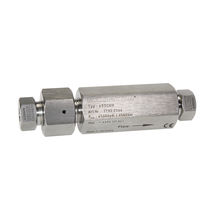 Ball check valve / threaded / for gas / stainless steel