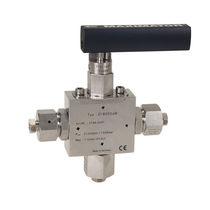 Ball valve / manual / for gas / stainless steel