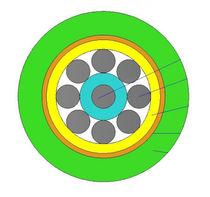 Optical data cable / armored / multi-fiber