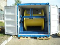 Hydraulic winch / for offshore applications / waterproof / rotary drum