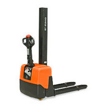 Electric stacker truck / walk-behind / for pallets / for materials handling