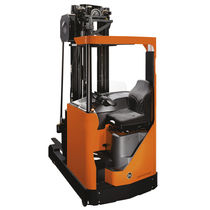 Electric reach truck / side-facing seated / narrow-aisle / for trucks