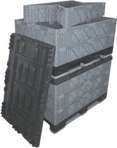 Plastic pallet box / for the automotive industry / folding