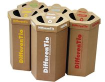 Cardboard container / waste recycling